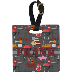 Barbeque Square Luggage Tag (Personalized)