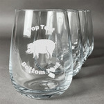 Barbeque Stemless Wine Glasses (Set of 4) (Personalized)