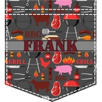 Barbeque Iron On Faux Pocket (Personalized)