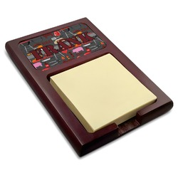 Barbeque Red Mahogany Sticky Note Holder (Personalized)