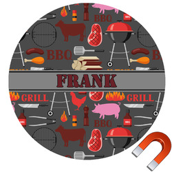Barbeque Round Car Magnet (Personalized)
