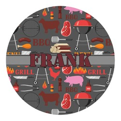Barbeque Round Decal (Personalized)