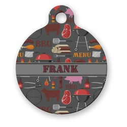 Barbeque Round Pet ID Tag (Personalized)