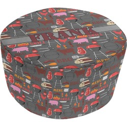 Barbeque Round Pouf Ottoman (Personalized)