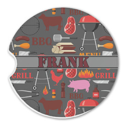 Barbeque Sandstone Car Coasters (Personalized)