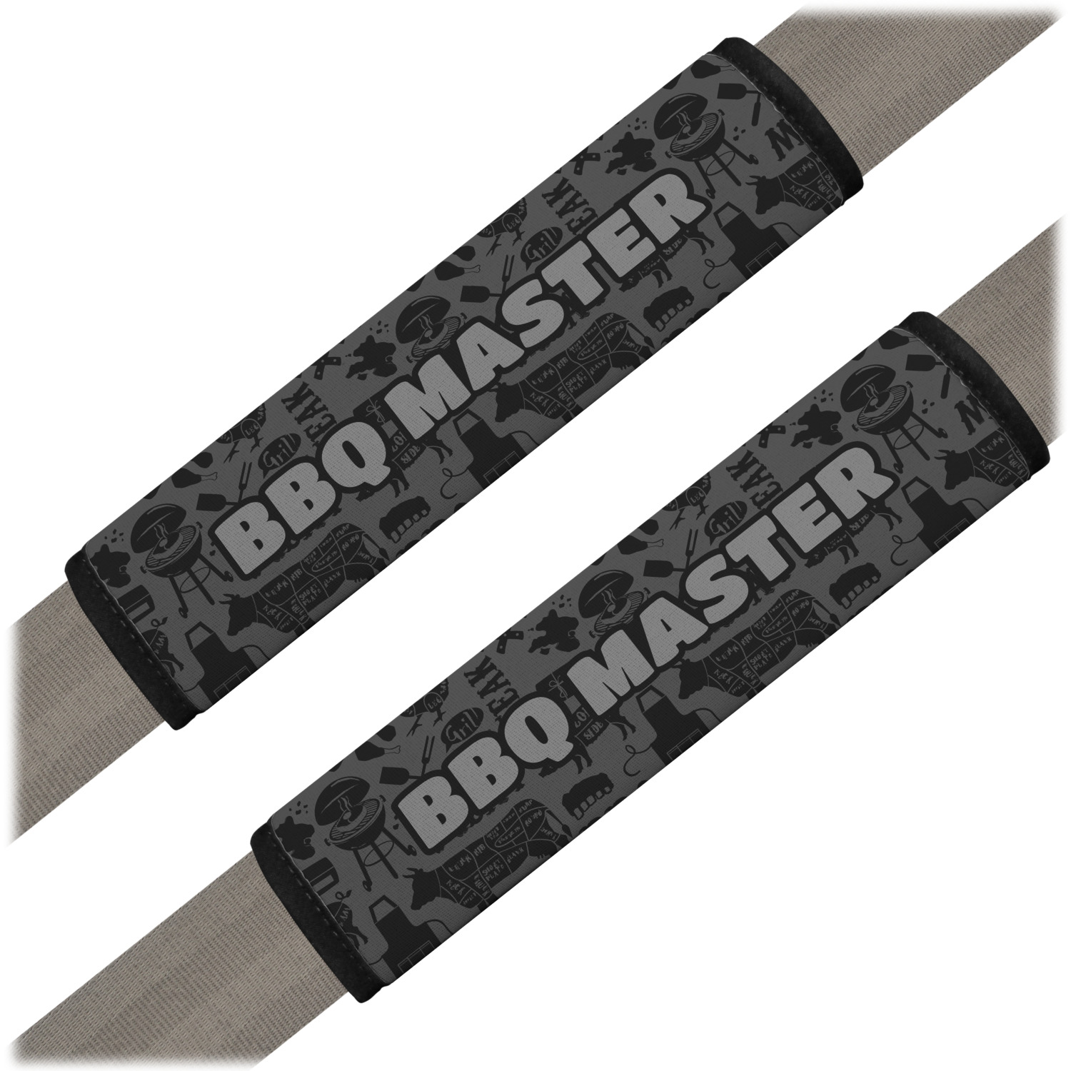Barbeque Seat Belt Covers Set Of 2 Personalized