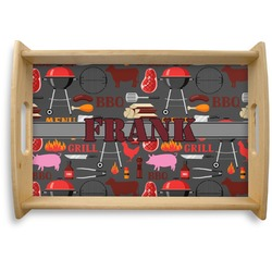 Barbeque Natural Wooden Tray (Personalized)