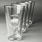Barbeque Beer Glasses (Set of 4) (Personalized)