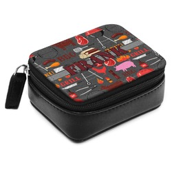 Barbeque Small Leatherette Travel Pill Case (Personalized)