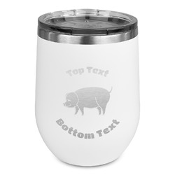 Barbeque Stemless Wine Tumbler - 5 Color Choices - Stainless Steel  (Personalized)
