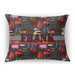 Barbeque Rectangular Throw Pillow Case (Personalized)