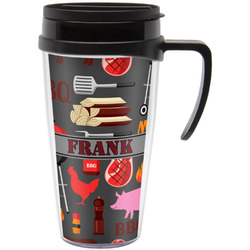 Barbeque Travel Mug with Handle (Personalized)