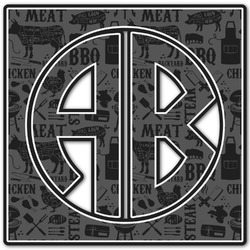 Barbeque Monogram Decal - Custom Sizes (Personalized)