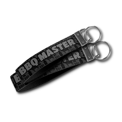 Barbeque Wristlet Webbing Keychain Fob (Personalized)