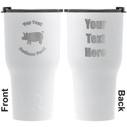 Barbeque RTIC Tumbler - White - Engraved Front & Back (Personalized)