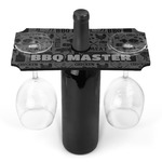 Barbeque Wine Bottle & Glass Holder (Personalized)