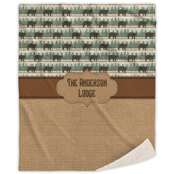 Cabin Sherpa Throw Blanket (Personalized)