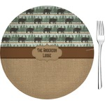"""Cabin Glass Appetizer / Dessert Plates 8"""" - Single or Set (Personalized)"""