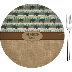 "Cabin Glass Appetizer / Dessert Plates 8"" - Single or Set (Personalized)"