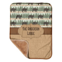 "Cabin Sherpa Baby Blanket 30"" x 40"" (Personalized)"