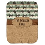 Cabin Baby Swaddling Blanket (Personalized)