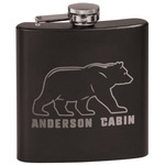 Cabin Black Flask Set (Personalized)