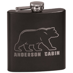 Cabin Black Flask (Personalized)