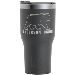 Cabin RTIC Tumbler - Black (Personalized)