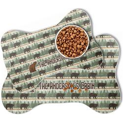Cabin Bone Shaped Dog Food Mat (Personalized)