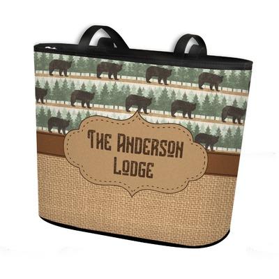 Cabin Bucket Tote w/ Genuine Leather Trim (Personalized)