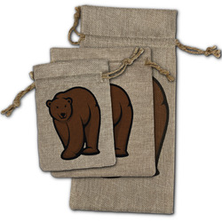 Cabin Burlap Gift Bags (Personalized)