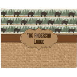 Cabin Woven Fabric Placemat - Twill w/ Name or Text
