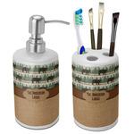 Cabin Ceramic Bathroom Accessories Set (Personalized)