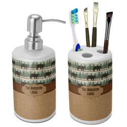 Cabin Bathroom Accessories Set (Ceramic) (Personalized)