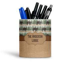 Cabin Ceramic Pen Holder