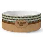 Cabin Ceramic Dog Bowl (Personalized)