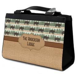 Cabin Classic Tote Purse w/ Leather Trim (Personalized)