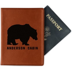 Cabin Leatherette Passport Holder - Single Sided (Personalized)