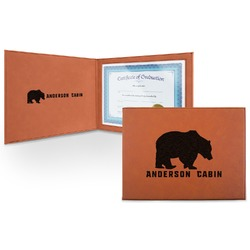 Cabin Leatherette Certificate Holder (Personalized)