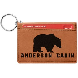 Cabin Leatherette Keychain ID Holder (Personalized)