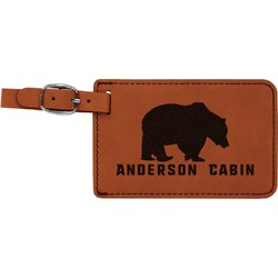Cabin Leatherette Luggage Tag (Personalized)