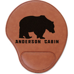 Cabin Leatherette Mouse Pad with Wrist Support (Personalized)