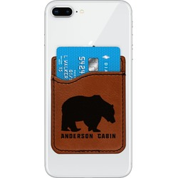 Cabin Leatherette Phone Wallet (Personalized)