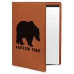 Cabin Leatherette Portfolio with Notepad (Personalized)