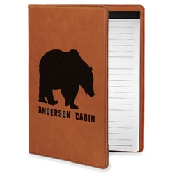 Cabin Leatherette Portfolio with Notepad - Small - Single Sided (Personalized)