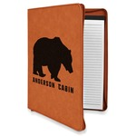 Cabin Leatherette Zipper Portfolio with Notepad (Personalized)