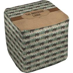 "Cabin Cube Pouf Ottoman - 18"" (Personalized)"