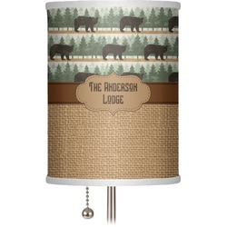 """Cabin 7"""" Drum Lamp Shade (Personalized)"""