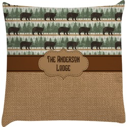 Cabin Decorative Pillow Case (Personalized)