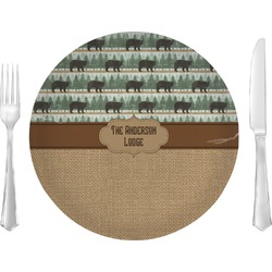 "Cabin Glass Lunch / Dinner Plates 10"" - Single or Set (Personalized)"